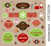 christmas decoration collection ... | Shutterstock .eps vector #155720234