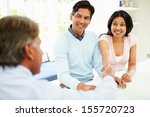 indian couple meeting with... | Shutterstock . vector #155720723
