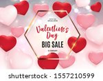 valentine's day love and... | Shutterstock . vector #1557210599