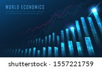 stock market or forex trading...   Shutterstock .eps vector #1557221759