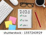 new year resolution goal list... | Shutterstock . vector #1557243929