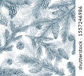 christmas tree hand drawn... | Shutterstock .eps vector #1557246986