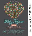heart shape baby shower... | Shutterstock .eps vector #155725016
