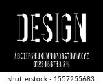 futuristic typography font.... | Shutterstock .eps vector #1557255683