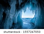 View From The Ice Cave On Lake...