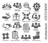 engagement icons set on white...   Shutterstock .eps vector #1557278459