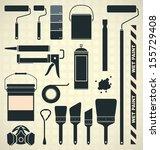 vector set  painting supplies... | Shutterstock .eps vector #155729408