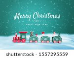 merry christmas and happy new... | Shutterstock . vector #1557295559