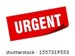 urgent tag. urgent square... | Shutterstock .eps vector #1557319553