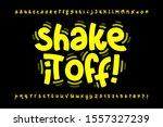 shaky style font design  shake... | Shutterstock .eps vector #1557327239