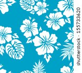 hawaiian aloha shirt seamless... | Shutterstock .eps vector #155733620