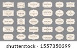 vector set vintage labels and... | Shutterstock .eps vector #1557350399
