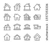 simple set of home icons in... | Shutterstock .eps vector #1557353336