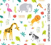 seamless childish pattern with... | Shutterstock .eps vector #1557362540