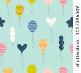 birthday seamless pattern with... | Shutterstock .eps vector #1557396509