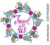 travel set icon. handwritten... | Shutterstock .eps vector #1557442820