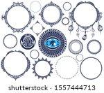 set of vintage labels. ... | Shutterstock .eps vector #1557444713