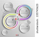 stylized presentation option... | Shutterstock .eps vector #155745623