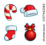 vector cartoon icon set of a... | Shutterstock .eps vector #1557462083