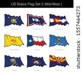 us mid west states flag set.... | Shutterstock .eps vector #1557464273