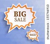 white paper bubble for speech... | Shutterstock .eps vector #155746910