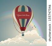 Hot Air Balloon  Eps10 Vector