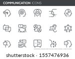 ommunication vector line icons ... | Shutterstock .eps vector #1557476936