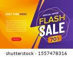 flash sale banner vector... | Shutterstock .eps vector #1557478316