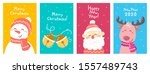 vector set of christmas... | Shutterstock .eps vector #1557489743