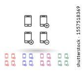 set of smartphone multi color...