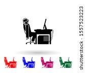 man game over multi color icon. ...