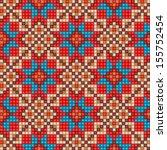 Colorful Mosaic Seamless Ethni...