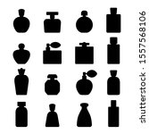 perfume silhouette icons... | Shutterstock .eps vector #1557568106