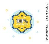 100  guaranteed label  ... | Shutterstock .eps vector #1557569273
