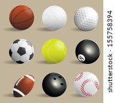 sport balls collection... | Shutterstock .eps vector #155758394
