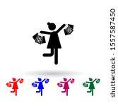 shopper  bags multi color icon. ...