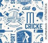 cricket club seamless pattern... | Shutterstock .eps vector #1557602516