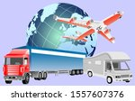 logistics  business concept... | Shutterstock .eps vector #1557607376