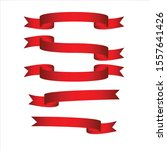 red realistic detailed curved... | Shutterstock .eps vector #1557641426