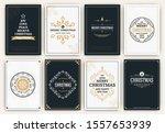 christmas design set  ... | Shutterstock .eps vector #1557653939