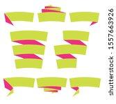 folded ribbon banner set.... | Shutterstock .eps vector #1557663926