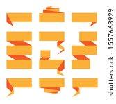 folded ribbon banner set.... | Shutterstock .eps vector #1557663929