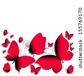 butterflies design | Shutterstock .eps vector #155769170