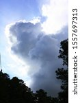 Small photo of nimbus clouds, nimbus sky Natural backgrounds
