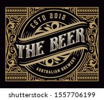 antique label with logo for... | Shutterstock .eps vector #1557706199