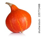 hokkaido pumpkin on white...   Shutterstock . vector #155772488