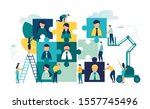 vector business graph  open... | Shutterstock .eps vector #1557745496