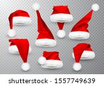 realistic red santa claus hat...   Shutterstock .eps vector #1557749639