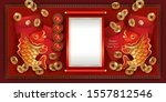 chinese new year red golden... | Shutterstock .eps vector #1557812546