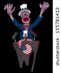 zombie uncle sam politician... | Shutterstock .eps vector #155781413